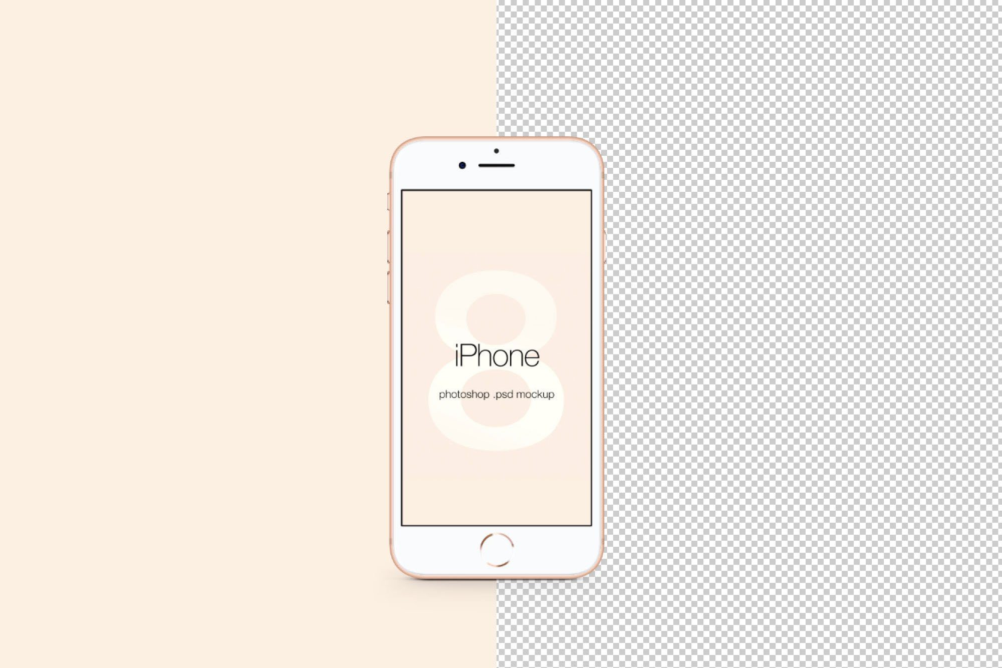 iPhone 8 PSD Mockup