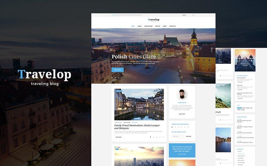 Travelop lite - Travel photo blog WordPress Theme