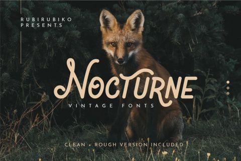 Nocturne - Free Vintage Font
