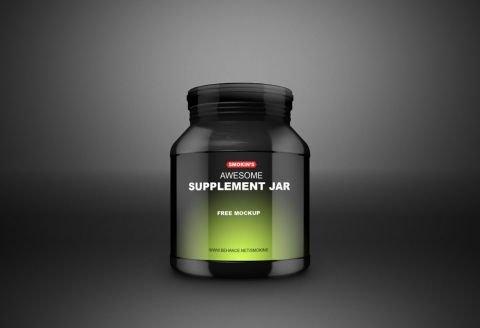 Supplement Jar Free Mockup