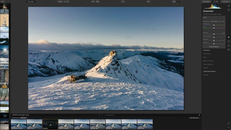 luminar 2 edit view